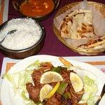 Paneer Masala, Basmati Rice, Naan, Seekh Kebob (lamb)