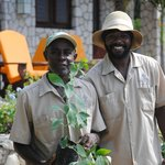 niney and one of the many wonderful guys who maintain the grounds