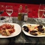 Lasagna & seafood pasta