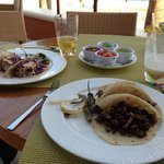 Light lunch from one of the restaurants by the pool