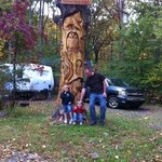 one of the awesome carvings around the campsite