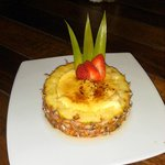 Yummy pineapple creme brulee