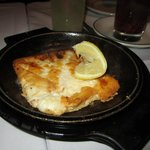 saganaki (flaming goat cheese)