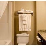 Guest Bathroom Towel Display