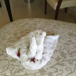 Only towel art done for the entire vaca