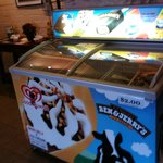 Ice cream cooler in lobby