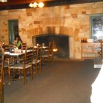The restaurant dining room