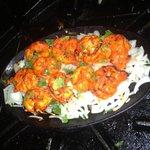 Tandoori king prawns