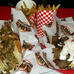 Cheese Steak and Gyros sandwiches