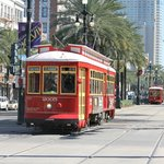 Canal st.trolley,right at the ferry dock