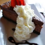 the chocolate cheesecake dessert