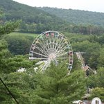 View of park from Sky Ride