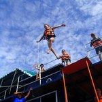 Boom-net jumping