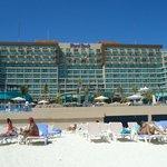 Vista del hotel desde la zona de playa