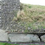 Detail along the side of the mound.  Lovely stonework.