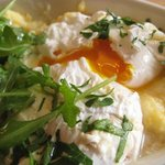 poached egg on polenta