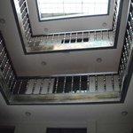 visão do hall do hotel