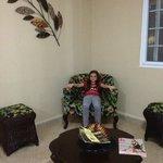 Lobby y descanso del hotel