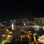 Night view from Swissotel Stamford Room 6251