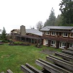 View from room looking towards the Spa & a foggy Hood Canal