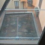 Veduta dall'alto della sala da colazione