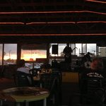 listening to the band at Oh Shucks while the Sun Sets