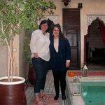 Riad croix Berbère 14 février 2013.Ilham à droite