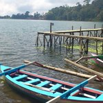 cannoe in bedugul lake