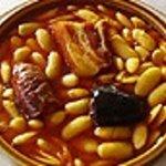Fabada asturiana, en Asador Riegu