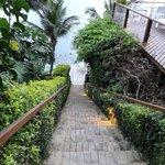 Escada para acesso ao Deck da Praia