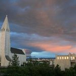 the church, Hallgrimskirkja