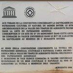 Unesco information pannel