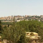 panoramic view from the ruins to the city of Agrigento
