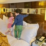 Kids enjoy the bed