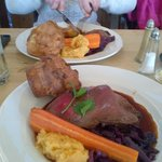 Roast beef - a little on the pink side, but still very nice.