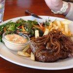 The steak was superb