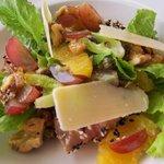 Yummy salad at the restaurant