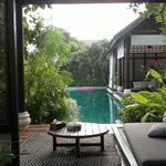 View through our private sala to shared private pool