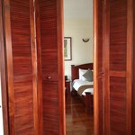 The doors to the bedroom