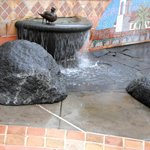 I took a closeup of one of the fountains in front of Toast in Marin County.