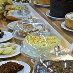 A selection of home-baked cakes and traybakes