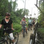 Cycling trip round Bangkok, Bang Krachao area