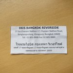 Ibis Riverside in Thai (might be useful if taking a cab)
