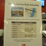 Shuttle schedule