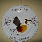 Special Dessert at our candel light dinner