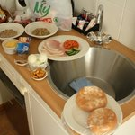 Morgenmad på værelset, pga tidlig afgang :-)