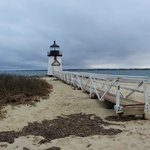 10 Minute walk to Brant Point lighthouse and beach (winter picture)