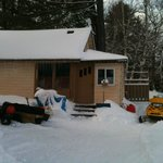 Cottage #7 with sled parking right at the door!