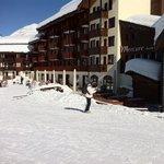 acces ski aux pieds