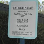 Sign for boat dock